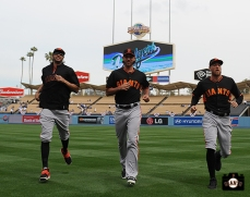 Michael Morse, Madison Bumgarner & Hunter Pence