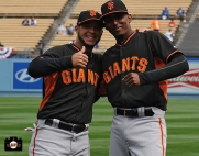 april 4, 2014, sf giants, photo, opening day, los angeles, dodger stadium