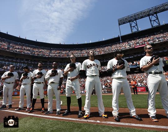 San Francisco Giants, S.F. Giants, photo, 2014, Opening Day