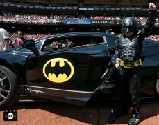 Bat Kid was at AT&T Park to throw out the first pitch