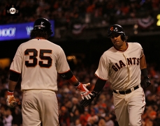 Brandon Crawford & Michael Morse
