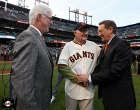 San Francisco Giants, S.F. Giants, photo, 2014, Mike Krukow, Roger Craig and Larry Baer