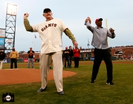 San Francisco Giants, S.F. Giants, photo, 2014, Roger Craig, Keena Turner