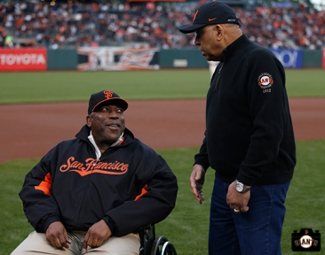San Francisco Giants, S.F. Giants, photo, 2014, Willie McCovey, Orlando Cepeda