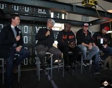 San Francisco Giants, S.F. Giants, photo, 2014, Dave Flemming, Dave Dravecky, Jeffrey Leonard, Joe Staley and Bruce Miller