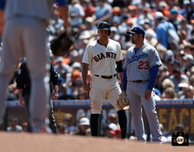 San Francisco Giants, S.F. Giants, photo, 2014, Hunter Pence, Adrian Gonzalez
