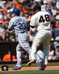 San Francisco Giants, S.F. Giants, photo, 2014, Adrian Gonzalez, Pablo Sandoval