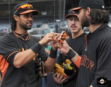 Angel Pagan, Tim Lincecum & Brandon Crawford