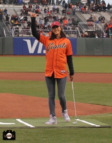 San Francisco Giants, S.F. Giants, photo, 2014, LPGA, MIchelle Wie
