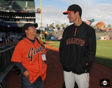 San Francisco Giants, S.F. Giants, photo, 2014, LPGA, Christina Kim, Javier Lopez