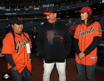 San Francisco Giants, S.F. Giants, photo, 2014, LPGA, Christina Kim, Will Clark, Michelle Wie