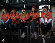 San Francisco Giants, S.F. Giants, photo, 2014, LPGA, Brittany Lincicome, Christina Kim, Paula Creamer, Michelle Wie, Julie Inkster