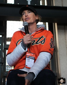 San Francisco Giants, S.F. Giants, photo, 2014, LPGA, Juli Inkster