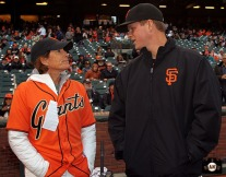 San Francisco Giants, S.F. Giants, photo, 2014, LPGA, Juli Inkster, Matt Cain