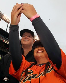 San Francisco Giants, S.F. Giants, photo, 2014, LPGA, Matt Cain, Christina Kim