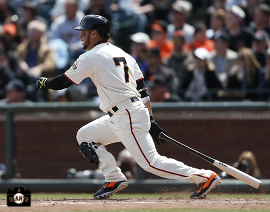 San Francisco Giants, S.F. Giants, photo 2014, Gregor Blanco