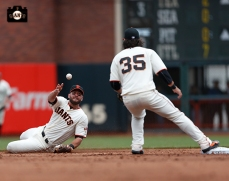 Brandon Hicks and Brandon Crawford turn two