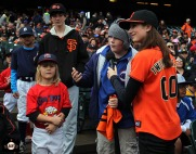 San Francisco Giants, S.F. Giants, photo, 2014, Little League Day,