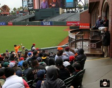 San Francisco Giants, S.F. Giants, photo, 2014, Little League Day, Will Clark