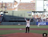 San Francisco Giants, S.F. Giants, photo, 2014, Korean Heritage Night, Se-Ri Pak