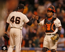 Santiago Casilla and Hector Sanchez