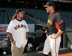 San Francisco Giants, S.F. Ginats, photo, 2014, Chumlee, Hunter Pence