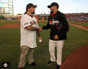 San Francisco Giants, S.F. Ginats, photo, 2014, Chumlee, Sergio Romo