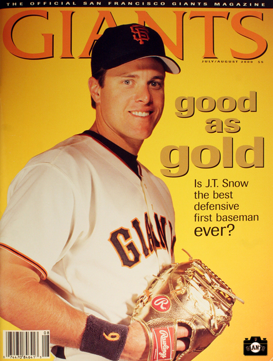 jt snow, 2000, sf giants, photo, magazine