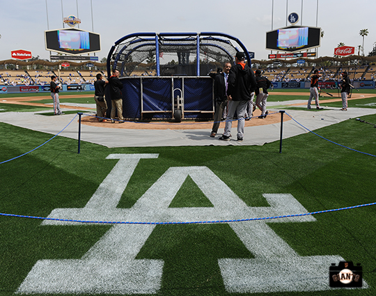 2014 sf giants, photo, dodger stadium