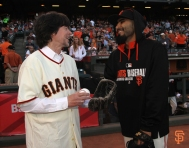 may 13, 2014, sf giants, photo, ken burns, first pitch, sergio romo