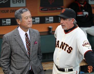 San Francisco Giants, S.F. Giants, photo, 2014, Japanese Heritage Night,Masanori Murakami, Ron Wotus