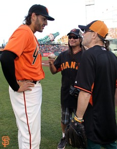 Michael Morse, Robert Trujillo and Lars Ulrich