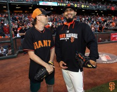 Lars Ulrich and Sergio Romo