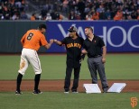 San Francisco Giants, S.F. Giants, photo, 2014, Metallica, Hunter Pence