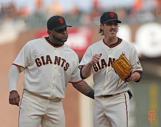San Francisco Giants, S.F. Giants, photo, 2014, Pablo Sandoval, Tim Lincecum
