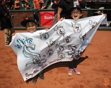 San Francisco Giants, S.F. Giants, photo, 2014, Little League Day
