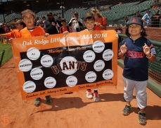 San Francisco Giants, S.F. Giants, photo, 2014, Little League Day