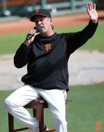 San Francisco Giants, S.F. Giants, photo, 2014, Little League Day, Ron Wotus