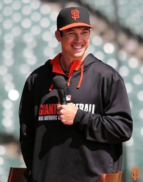 San Francisco Giants, S.F. Giants, photo, 2014, Little League Day, Tyler Colvin