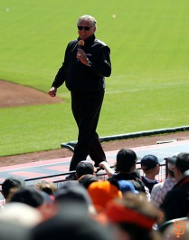 San Francisco Giants, S.F. Giants, photo, 2014, Little League Day, Duane Kuiper