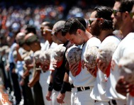 San Francisco Giants, S.F. Giants, photo, 2014, Memorial Day, Buster Posey