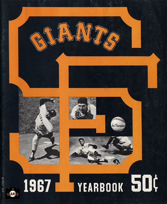 sf giants yearbook, juan marichal, magazine, scorecard, baseball, 1967, willie mays
