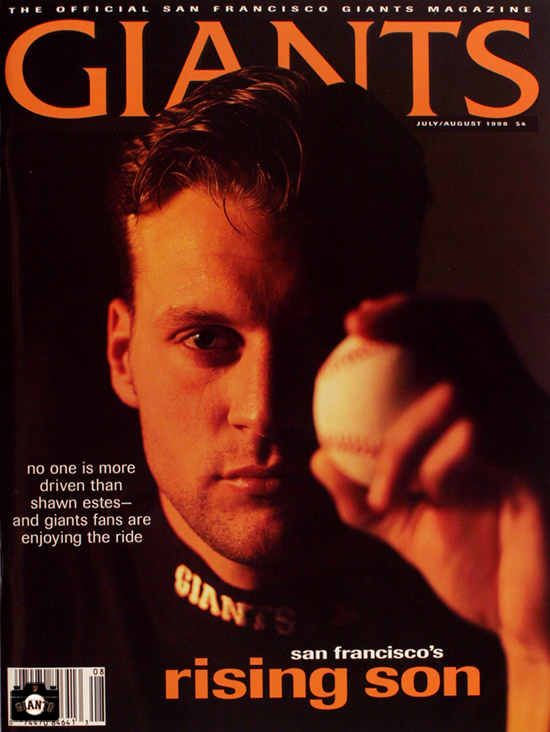 sf giants, photo, 1998 giants magazine, shawn estes
