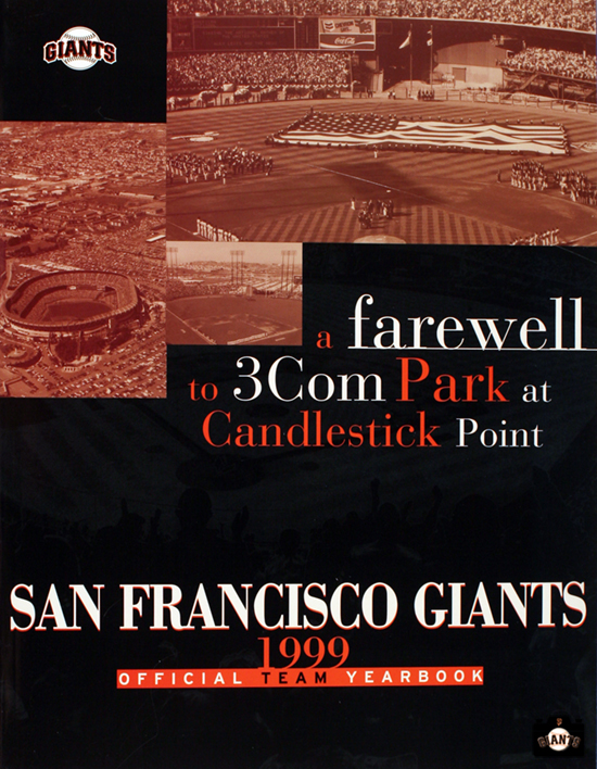 sf giants, photo, 1999 yearbook, farewell to candlestick park, 3Com