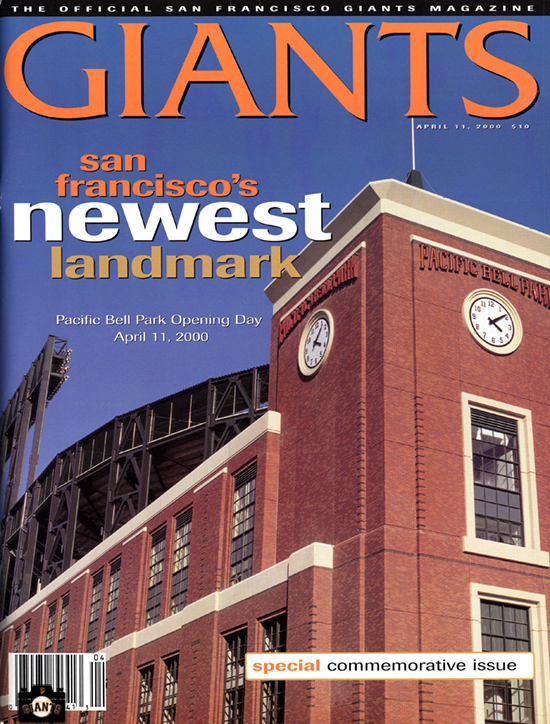 sf giants yearbook, magazine, scorecard, baseball, 2000, pacific bell park