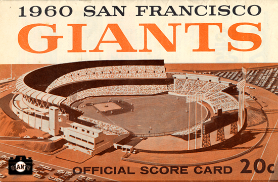 sf giants yearbook, magazine, scorecard, baseball, 1960, candlestick park