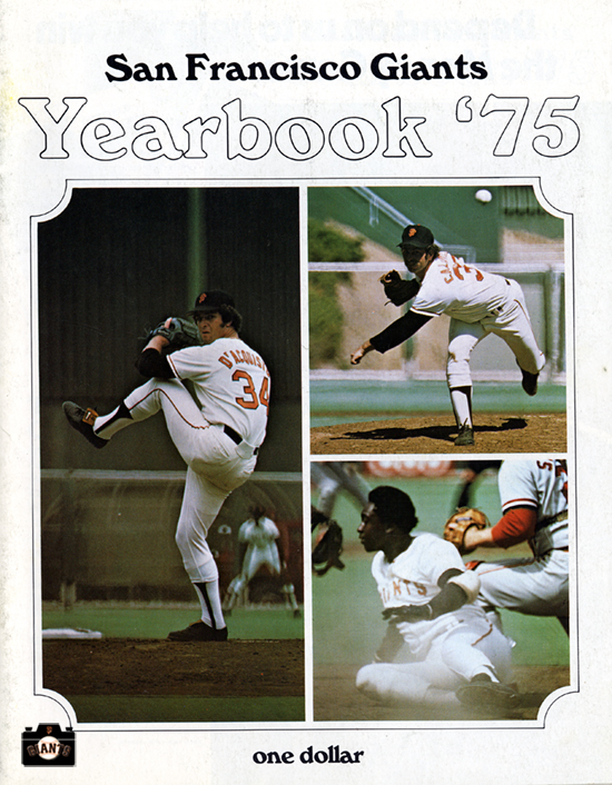 john d'acquititio, bobby bonds, sf giants yearbook, magazine, scorecard, baseball,