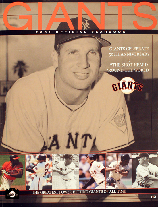 SAN FRANCISCO GIANTS, YEARBOOK, 2001, BOBBY THOMSON