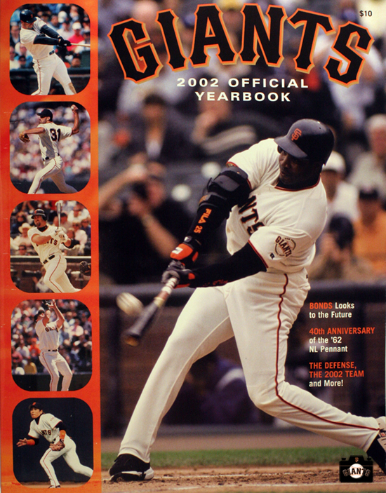 SAN FRANCISCO GIANTS, YEARBOOK, BARRY BONDS