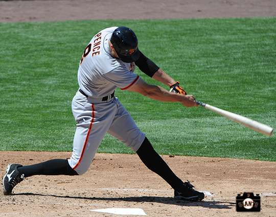 San Francisco Giants, S.F. Giants, photo, 2104, Hunter Pence